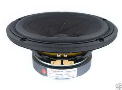 "Scan Speak Tiefmitteltöner 18W/4531G01  6,5"" Revelator Midwoofer WoodFibre Cone Revelator Serie"